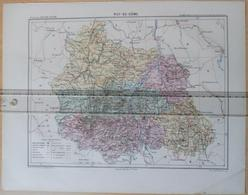 Dpt 63 Joanne 1874 30x38 Puy De Dome Clermont-Ferrand Ambert Issoire Riom Thiers Bourg-Lastic Chateldon Saint-Amant Viv - Cartes
