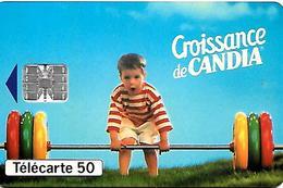 CARTE-n-PUCE-PRIVEE-PUBLIC- 50U-EN649-SC7-05/93-COLAS-CANDIA-UTILISE-TBE-RARE - France