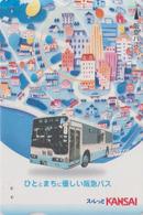 Carte Prépayée Japon - Jeu D'enfant - Autobus & Ballon - Bus & Balloon Japan Prepaid Lagare Card - 166 - Jeux