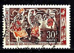 DAHOMEY 210° 30f Carmin, Violet-brun Et Orange Danses Folkloriques Danse De Messouhoueiss (10% De La Cote + 015) - Bénin – Dahomey (1960-...)