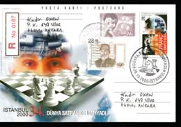 "TPC-122 AN-346 2000 34th WORLD CHESS OLYMPICS POSTCARD F.D.C. "" RR "" - Lettres & Documents"