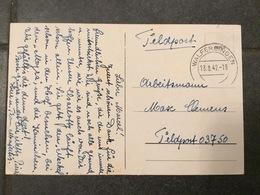 Luxembourg Carte Feldpost Du Luxembourg Walferdingen - 1940-1944 Occupation Allemande