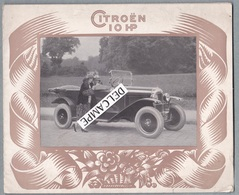 """10 HP CITROËN Torpédo 4 Places """"série Luxe"""" .Dépliant .Société Anonyme André Citroën AC.215 Imprimeur Draeger. - Cars"""