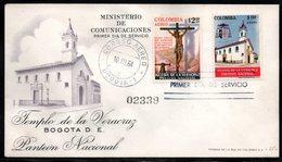 COLOMBIA- KOLUMBIEN - 1964.FDC/SPD. VERACRUZ CHURCH. - Colombia