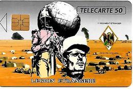 CARTE-n-PUCE-PRIVEE-PUBLIC- 50U-EN 103-SO3-06/91-LEGION ETRANGERE-UTILISE-TBE-RARE - France