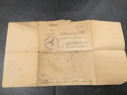 Luxembourg Lettre Feldpost Contenu - 1940-1944 Occupation Allemande