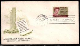COLOMBIA- KOLUMBIEN - 1964.FDC/SPD. ELEANOR ROOSEVELT - Colombia