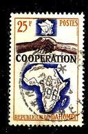 DAHOMEY 213° 25f Orange, Violet-brun Et Outremer Coopération Avec La France (10% De La Cote + 015) - Bénin – Dahomey (1960-...)