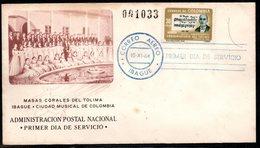 COLOMBIA- KOLUMBIEN - 1964.FDC/SPD. MUSIC - ALBERTO CASTILLA, TOLIMA'S CONSERVATORY - Colombie