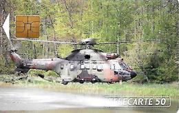 CARTE-n-PUCE-PRIVEE-PUBLIC- 50U-EN 137-SO3-08/91-ARMEE De TERRE-HELICOPTERE-NEUVE-TBE-RARE - France