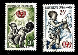 DAHOMEY 214/215° 18ème Anniversaire De L'U.N.I.C.E.F. (10% De La Cote + 015) - Bénin – Dahomey (1960-...)