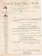 Facture 1934 / Sté Produits Glasso Siccolac / Salon Automobile Paris 1934 / 92 Levallois-Perret - Cars