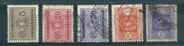 1934 SEGNATASSE FASCI Filigr. CORONA LOTTO 5 BOLLI  USATO - 1900-44 Vittorio Emanuele III