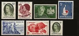 AUSTRALIA 1963 - 7v Various Stamps Mi 323-329 MNH ** Cv€5,00 K024 - 1952-65 Elizabeth II : Pre-Decimals