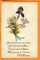 LIP391, Fleurs Séchées Et Collées, A, De Musset, Circulée Sous Enveloppe - Fleurs