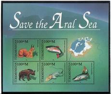 Turkmenistan.1996 Save The Aral Sea (Fauna). S/S Of 5v X 100.oo Michel # Bl.6 - Turkménistan