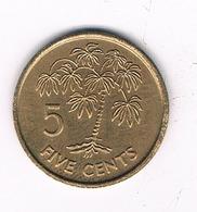 5 CENTS   1995 SEYCHELLEN /8551// - Seychelles