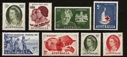 AUSTRALIA 1963 - 8v Various Stamps Mi 323-330 MH * MINT Cv€5,20 K024 - 1952-65 Elizabeth II : Pre-Decimals