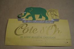 Ancien Carton Chocolat Côte D'Or,dimensions ; + - 26 Cm. Sur 19 Cm.collector - Chocolat