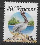 1988 SAINT VINCENT 1054** Oiseau, Pélican - St.Vincent (1979-...)