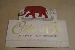 Ancien Carton Chocolat Côte D'Or,dimensions ; + - 22 Cm. Sur 19 Cm.collector - Chocolat