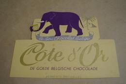 Ancien Carton Chocolat Côte D'Or,dimensions ; + - 22 Cm. Sur 17 Cm.collector - Chocolat