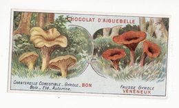 Chromo  AIGUEBELLE   Bons Et Mauvais Champignons    Chanterelle   Fausse Girolle - Aiguebelle