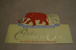 Ancien Carton Chocolat Côte D'Or,dimensions ; + - 26 Cm. Sur 17 Cm.collector - Chocolat