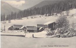 74 CHAMONIX MONT BLANC PAYSAGE D HIVER DE LA VALLEE DE CHAMONIX Editeur  JULLIEN FRERES JJ 8044 - Chamonix-Mont-Blanc