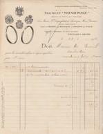 Facture 1914 / Segment Monopole / Automobiles / 26 Rue Du Pont / Neuilly Sur Seine 92 - Cars