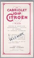 Le 10 HP CITROËN.LE CABRIOLET 3 Places.Petit Dépilant Publicitaire .AC.182 Imprimeur Draeger 1924 - Cars