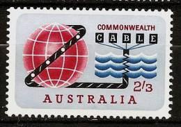 AUSTRALIA 1963 - Commissioning The Commonwealth PACIFIC-CABLE - SALE! Mi 338 MH * Cv€4,00 K026 - 1952-65 Elizabeth II : Pre-Decimals