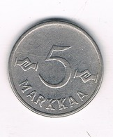 5 MARKKA 1955 FINLAND /8557/ - Finlande