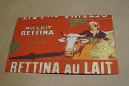 Ancien Emballage Publicitaire Originale,Chocolat Bettina,Aiglon,Verviers,18 Cm. Sur 11 Cm.collector - Chocolat