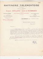 Raffinerie Tirlemontoise, Division Distillerie , Usine De Ruysbroeck ( Siège Social : Tirlemont ) - Petits Métiers