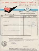 Facture LUCA / Conserves Salaisons / Cochon / Couilly Pont Aux Dames / 77 Seine Et Marne - Automobile