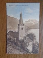 Suisse - Switzerland / Montreux, L'église Et Les Dents Du Midi --> 1911 - VD Vaud