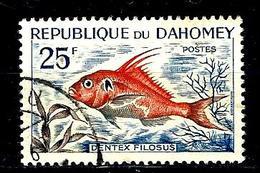 DAHOMEY 226° 25f Bleu, Orange Et Gris Poissons Dentex Filosus (10% De La Cote + 015) - Benin - Dahomey (1960-...)