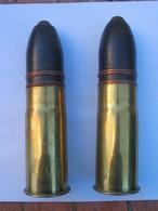 2 Obus 37-85mm Guerre 14/18 - Armes Neutralisées