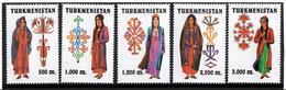 Turkmenistan.1999 Costumes. 5v: 500, 1000, 1200, 2500, 3000 M  Michel #66-70 - Turkménistan