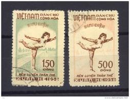 02507  -   Vietnam Du Nord  :  Yv   135-36  (o) - Viêt-Nam