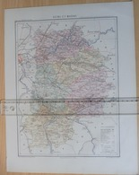 Dpt 77 Joanne 1874 30x38 SEINE Et MARNE Melun Coulommiers Fontainebleau Provins Meaux Montereau Mormant Crecy Nangis - Cartes