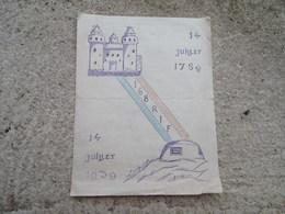 Menu 14 Juillet 1939 Du 168 Eme RIF Infanterie De Forteresse - 1939-45