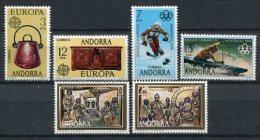 Andorra 1976. Completo ** MNH. - Andorre Espagnol