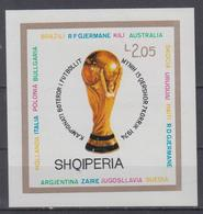 ALBANIA 1974 FOOTBALL WORLD CUP IMPERFORATED S/SHEET AND STAMPS - Coppa Del Mondo