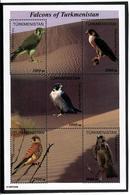 Turkmenistan. 2000 Falcons. SS Of 5v 1000,1000,1000,2500,3000  Michel # BL8 - Turkménistan