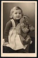 C0339 - Foto - Mädchen Mit Teddy Steiff Vintage - Fotografie