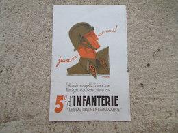 Tract Recrutement 5 Infanterie RI Le Beau Regiment De Navarre ! Navarre Sans Peur - 1939-45