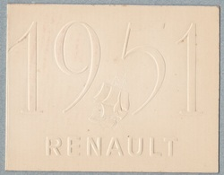 RENAULT FRÉGATE .Carton Publicitaire à Volet Pour Le Lancement De La Nouvelle Automobile 1951 - Cars
