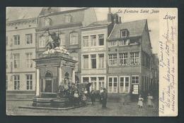 LIEGE.  La Fontaine St. Jean. Nels Série 34, N°52. Très Animée Voyagée En 1903. - Liege